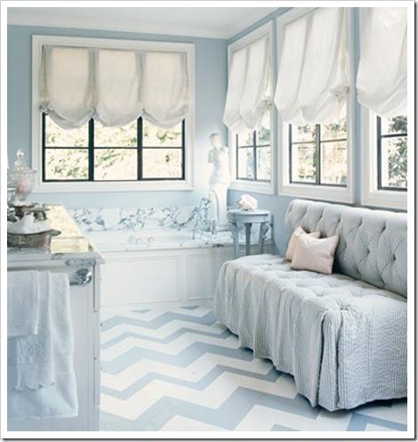 piso pintado banheiro