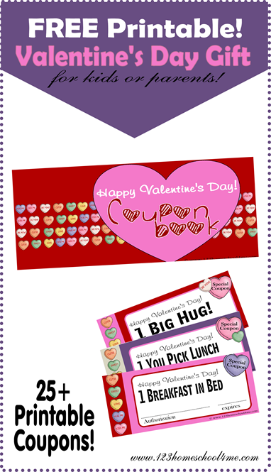 Free Printable Valentine's Day Coupon Book for kids or adults