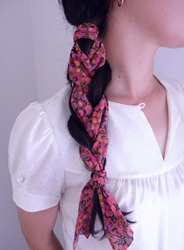 Ruby Mines Liberty of London Braid Scarves Hermes