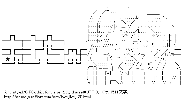 [AA]西木野真姫 & 星空凛 (ラブライブ!)