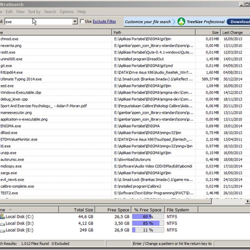 UltraSearch Membantu Menemukan File dengan Cepat