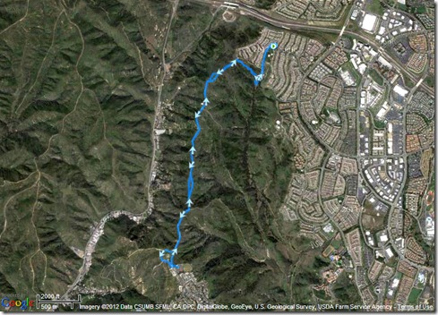 My Activities Long Run 3-12-2012