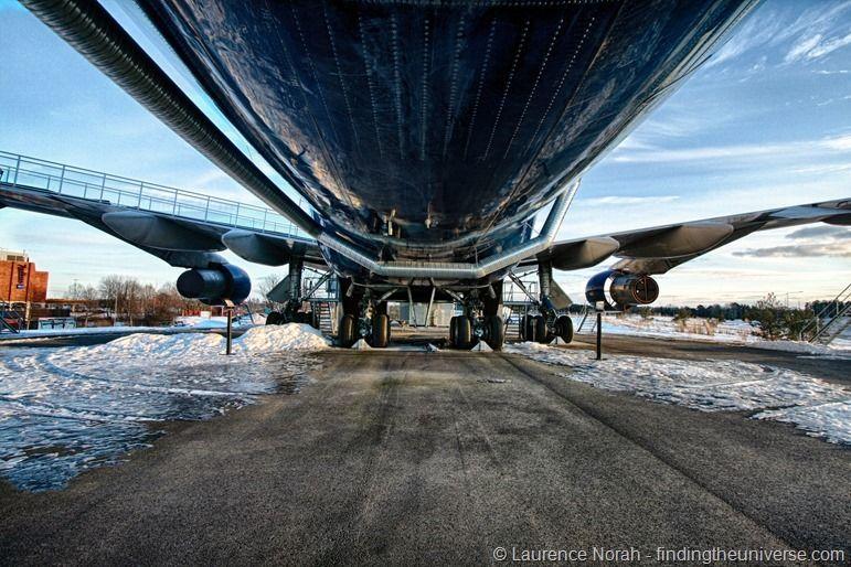 """Flugzeugbauch, """"Jumbo Stay"""", Stockholm, Schweden"""