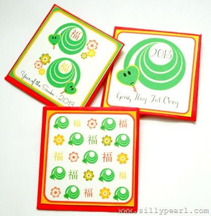 Year of the Snake - Red Envelopes - The Silly Pearl