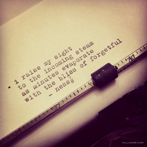 Typewriter spills poetic glimpses milliande 4