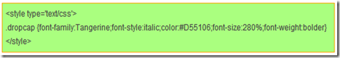 CSS tampilan font Tangerine website design