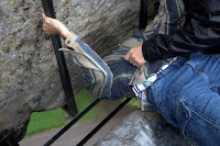 Philip kissing the Blarney stone