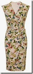 Blossom Print Stretch Wrap Front Dress