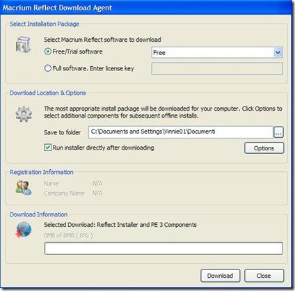 Macrium Reflect Free download agent