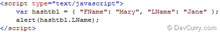 javascript-hashtable-example