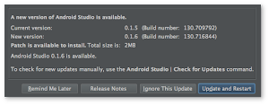 Android Studio 0.1.6