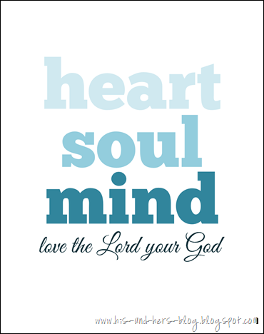 free printable love the lord your god aqua