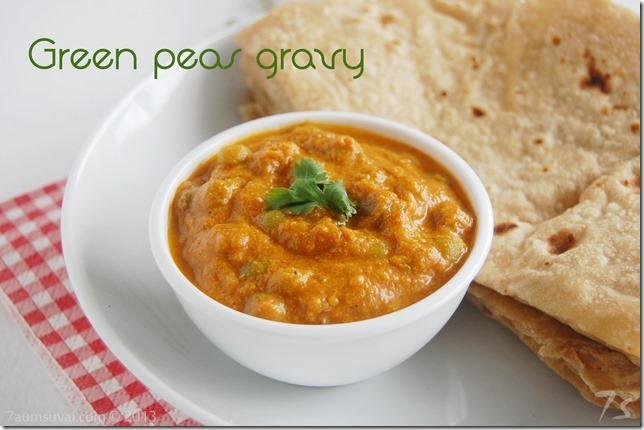 Green peas gravy