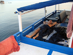 Sleeping on the upper deck of the Narin