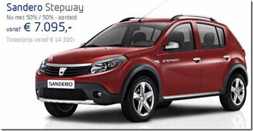 Prijzen 1-7-2012 Dacia Stepway