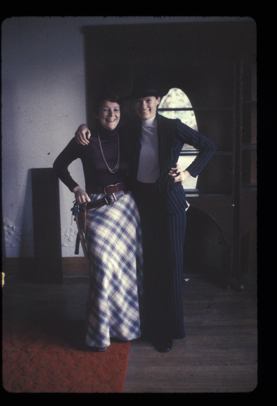 Kate O'Brien (left) & Carolyn Weathers at Alcoholism Center for Women (ACW) open house. Circa 1975