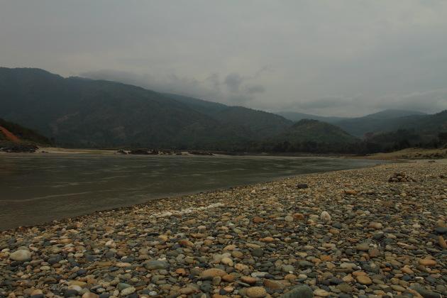 Picturesque Myitsone river view, Myanmar