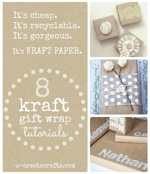 8 Simple Kraft Paper Gift Wrap Ideas!