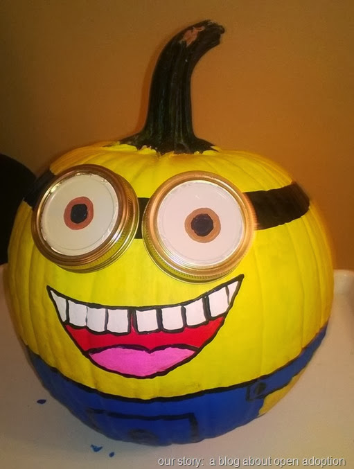 minion pumpkin 2013