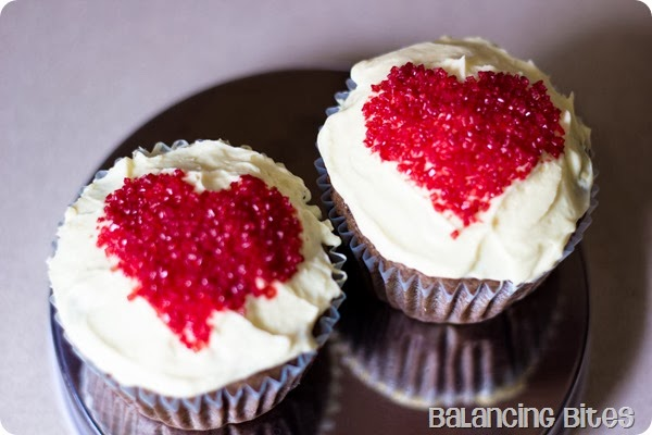 Balancing Bites - Valentine's Day Heart Cupcakes