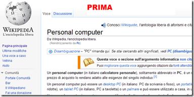 Pagina web normale