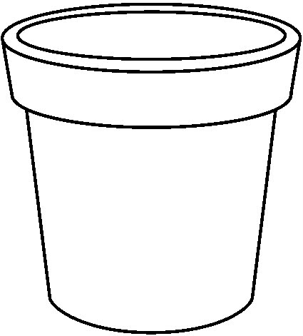 Flower Pot Black And White Clipart Images & Pictures - Becuo