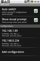 Screenshot of Wifi Static