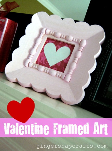 valentine framed art tutorial