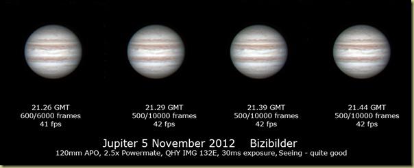 5 November 2012 Jupiter