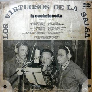 Los Virtuosos De la Salsa  La Cachetoncita  LP Back