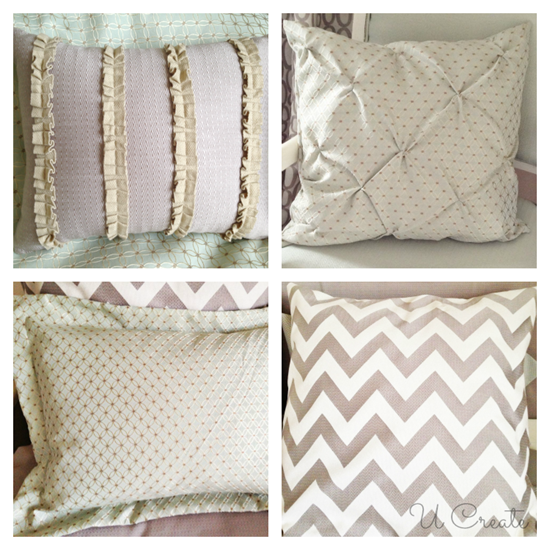 Bedroom Pillow and Sham Tutorials! www.u-createcrafts.com