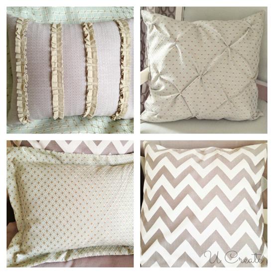 Bedroom Pillow and Sham Tutorials! www.u-createcrafts.com