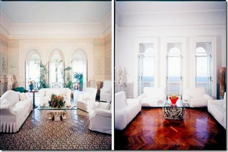 Living rooms in Sorrento villa