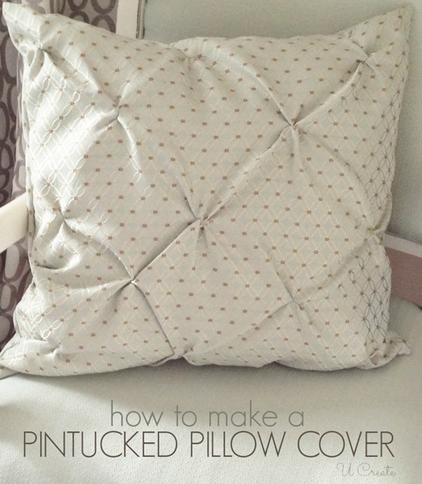 How to Make a Pintucked Throw Pillow Cover