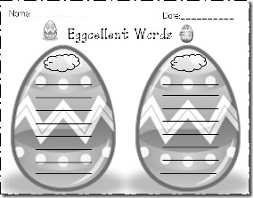 Eggcellent Words blank