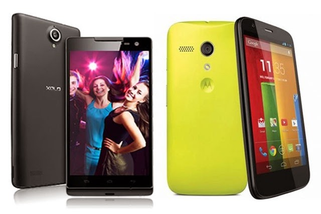 Xolo-Q1100-vs-Motorola-Moto-G India