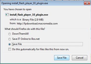 ติดตั้ง Flash player
