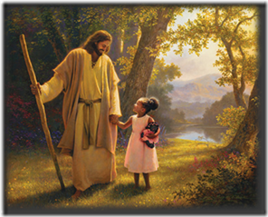 Jesus with little girl