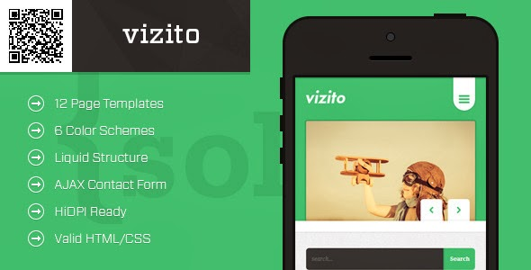 Premium HTML Templates for Mobile Devices: vizito | Mobile HTML/CSS ...