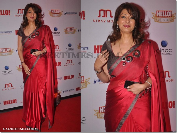 Sunanda_Pushkar_Red_Saree