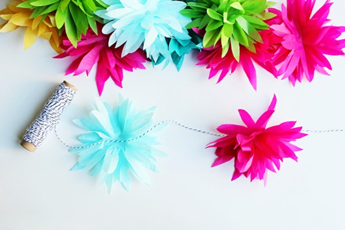 decoracao de casamento que eu posso fazer:DIY: Flores de Papel de Seda