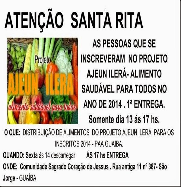 ATENÇÃO São Jorge TROCA DE ENDEREÇO