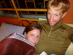 Snuggled up for the first time in months in Las Ventanas, Colombia.