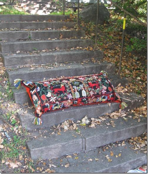 åkdyna på trappan