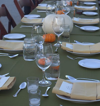 Table set-up for fall