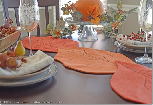 Looking for a fun Fall DIY Project? Try making this adorable Fall Leaf Table Runner. It will add just a touch of Fall to your Fall Decor. Easy to make, fun to give away.