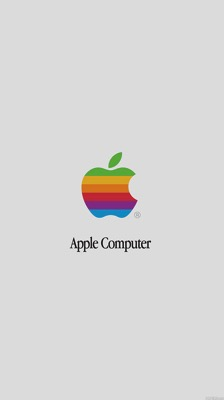 Rainbow apple computer iphone6 wallpaper
