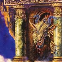 dragon entre columnas