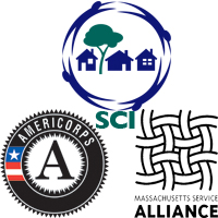 SCI, AmeriCorps, and Mass Service Alliance Logos
