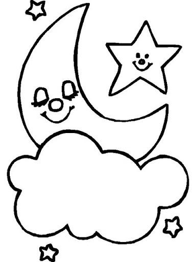 Dibujos para colorear lunas - Dibujos de lunas infantiles ...